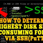 How to determine highest Disk Space consuming folder via SSH(PuTTy)