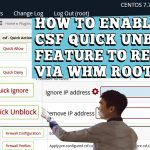 HOW TO ALLOW QUICK UNBLOCK CSF ACTION TO RESELLER