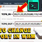 HOW TO CHANGE SSH PORT IN WHM ROOT