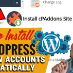 how to install WordPress automatically on new hosting accounts