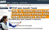 steps to prevent users from accessing files outside home directory with php