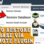 How to Restore Database via Cpremote Plugin in cPanel
