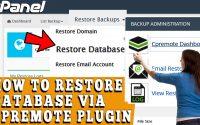 How to Restore Database via Cpremote Plugin in cPanel