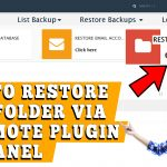 How to restore a particular file or folder using whmremote Backup plugin in cPanel
