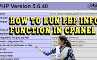 HOW TO RUN PHP INFO FUNCTION IN CPANEL