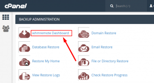 How to Restore only Emails via whmremote Backup plugin in cPanel