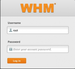 Login to WHM root
