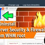 UNINSTALL CSF FIREWALL IN WHM