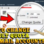 How to change default quota for Email Accounts in WHM
