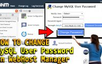 How to change MySQL User Password in WHM