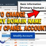 How to change primary domain name of any cPanel account via WHM
