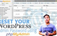 How to reset your Wordpress admin password via PHPmyAdmin