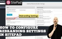How to configure Rebranding settings in Sitepad