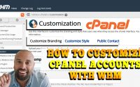 how to customize cPanel accounts with WebHost Manager