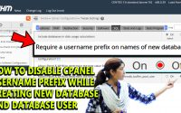 How to disable username prefix in database name and database users in WHM
