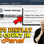 How to display inode count in each cPanel