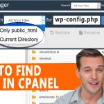 HOW TO FIND A FILE IN CPANEL