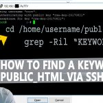 How to Find a specific keyword in whole public_html via SSH