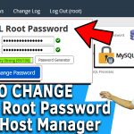 How to change MySQL root password in WHM