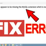 fix PHP installation appears to be missing the MySQL extension error