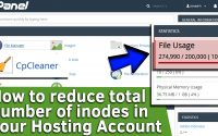 How to reduce number of inodes in your hosting account