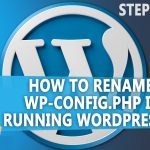 how to rename wp config php in a live running WordPress site