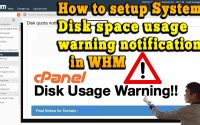 How to setup System disk space usage warning notification in WHM
