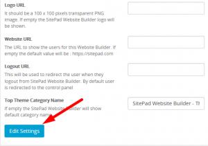 How to configure Rebranding settings in Sitepad