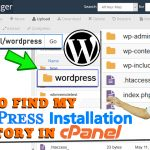 Where to find the installed WordPress directory in cPanel