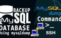How to take complete MySQL backups via MySQLdump command in SSH