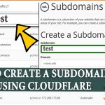 How to create Subdomain and activate it on Cloudflare