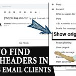 How to Find Email headers in various mail client