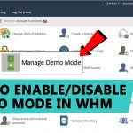 How To Enable Or Disable Demo Mode in WHM