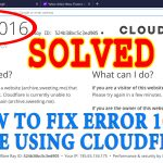 How to Fix Error 1016 while using Cloudflare