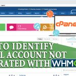 Identify cPanel account that are not integrated with WHMCS