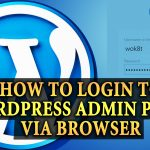 how to login to wordpress dashboard