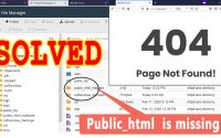 How to Fix 404 Page not Found error on my website & public_html missing