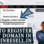 HOW TO REGISTER A DOMAIN FROM DOMAINRESELL PANEL