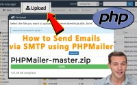 How to send Emails via SMTP using PHPMailer