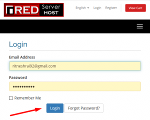 How to order services for Additional accounts from Redserverhost client area