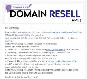 How to Setup DomainResell module in WHMCS