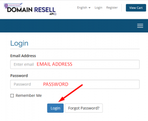 How to register domain for my customer using domainresell.in panel