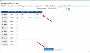 How to Setup Domain pricing for your domain in WHMCS