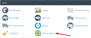 MySQL Database backup file location in cPanel account Backup