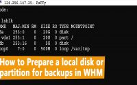 How to prepare a local disk or partition for backups in WHM