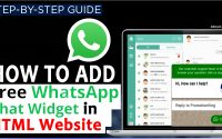 How to Add Whatsapp live chat code to your HTML website