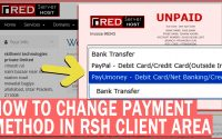 How to Change Payment method in RSH invoice