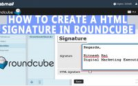 How to Create HTML Signature in Roundcube Webmail