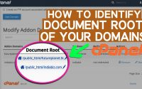 How to Identify Document Root of Primary, Addon and Subdomains
