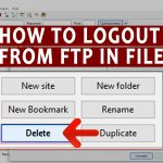 How to logout from FTP in Filezilla